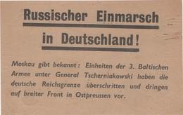WW2 - Russianscher Einmarsch In Deutschland! Et Das Ende. Invasion Russe En Allemagne Et La Fin. Tract, Flyer, Broschüre - Documentos Históricos