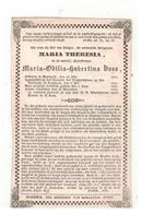Maaseik  Doodsprentje 1848  Zuster Trappistinne MARIA THERESIA Maria-Odilia-Hubertina Boss - Godsdienst & Esoterisme