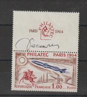 Philatec 1964 Yv 1422 Avec Signature De Décaris ** MNH - Unused Stamps