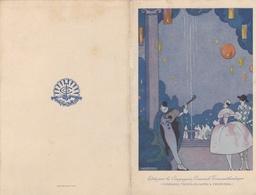"""¤¤  - Menu Du Paquebot """" CUBA """"   -  Déjeuner Du 28 Avril 1923   -  Illustrateur  -  Pierrot Et Colombine   -  ¤¤ - Menus"""