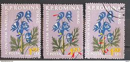 Error Romania 1960, MI 1819,flowers With Errors  Used - Variedades Y Curiosidades