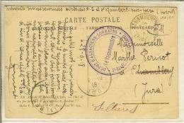 """CP De ALSACE RECONQUISE """" Cachet Dépôt D'Alsaciens- Lorrains - Le Vaquemestre * St-RAMBERT Sur LOIRE - Military Service Stampless"""