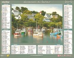 Almanach Du Facteur 2012 - Charente -  Port De Doëlan (Finistère) / Kerlouan (Finistère) - Calendars