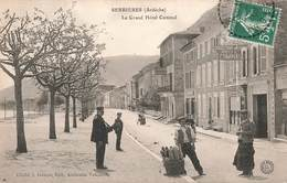 07 Serrieres Le Grand Hotel Cuminal Poste Facteur PTT Boulanger Cpa Carte Animée Edit Valencony - Serrières