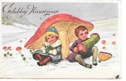 Champignon, Pilze, Funghi, Mushroom, Children, Enfants, Kinder, In Snow, Accordion, Accordéon, Akkordeon - Nouvel An