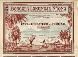 Bongola Lokundje N'Yong, Part De Fondateur - Africa