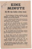 WW2 - Eine Minute Die Dir Das Leben Retten Kann Et Die Nüchterne Wahrheit über Kriegsgefangenfchaft. Tract, Flyer - Documentos Históricos