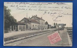 BRIENNE-LE-CHATEAU    La Gare     Animées        écrite En 1905 - Other Municipalities