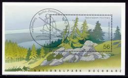 National Park Harz - Germany 2002 - Souvenir Sheet Mi. Bl. 59 - ESSt, First Day Issue Cancellation Berlin - Umweltschutz Und Klima