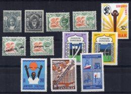 Zanzibar - 1914/66 - 12 Different - MNH - Zanzibar (...-1963)
