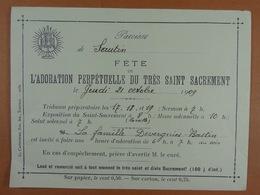 Sautin 1909 Adoration Perpétuelle Du Très Saint Sacrement - Oude Documenten