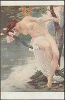 Guillaum Seignac - Libellule, C.1910s - Noyer Salon De Paris CPA - Paintings
