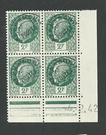 Pétain 2 Francs N°p 86 Coin Daté Du 4 2 1942 ** Et * Charnière Sur 1 Timbre - Precancels