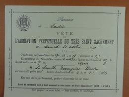Sautin 1911 Adoration Perpétuelle Du Très Saint Sacrement - Oude Documenten