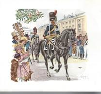 Lot De 10 Cartes De Voeux Thème BELGIQUE - GENDARMERIE Dessins De James THIRIAR - Regiments