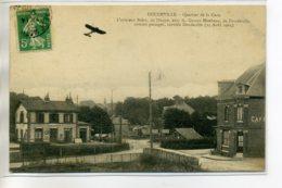 76 DOUDEVILLE Aviation Carte Rare - Quartier Gare Aviateur BIDOT Survol Du Village 15 Aout 1913  /D07-S2017 - France