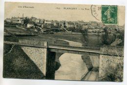 35 PLANCOET Le Pont De Chemin De Fer Campagne Maisons Du Bourg 1912 Timb    /D07-2017 - France