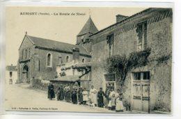 85 AUBIGNY Jolie Anim Villageoise Route De Nieul 1920        /D07-2017 - Autres Communes