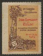France Tulle 1929 Vignette Foire Exposition Du Bas-Limousin Cinderella Neuf Avec Restant De Charnière - Erinofilia
