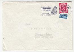 Konditorei Fachmesse Düsseldorf 1953 Slogan Postmark On Letter Cover Posted 1953 - Berlin Notopfer Stamp B191210 - Storia Postale