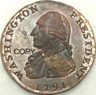 United States * 1 Cent 1791 * Washington, Large Eagle * ⌀ 30 Mm * REPRODUCTION - 1793-1796: Primizie