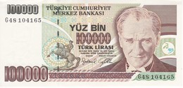 BILLETE DE TURQUIA DE 100000 LIRASI DEL AÑO 1970 EN CALIDAD EBC (XF) (BANKNOTE) - Turkije