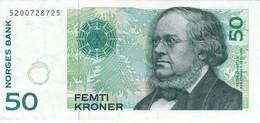 BILLETE DE NORUEGA DE 50 KRONER DEL AÑO 1996  (BANKNOTE) - Noruega