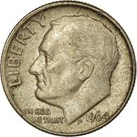 Monnaie, États-Unis, Roosevelt Dime, Dime, 1964, U.S. Mint, Philadelphie, TB+ - 1946-...: Roosevelt