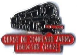 DEPOTS - A179 - CONFLANS-JARNY -  LOCO A VAPEUR - Verso : SM - TGV