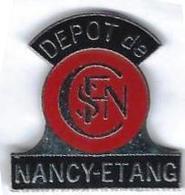 DEPOTS - A180 - NANCY-ETANG - SIGLE LOCO A VAPEUR - Verso : PENN - TGV