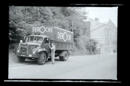 Negatif Photo Ancienne - Camion Ancien Berliet - Deroche - Automobiles
