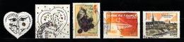 France 2008 : Timbres Yvert & Tellier N° 4128 - 4129 - 4131 - 4142 - 4143 - 4144 - 4145 Et 4160 Avec Oblitérations Ronde - Oblitérés