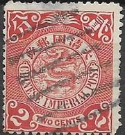 CHINA 1898 Dragon  - 2c - Red FU - China