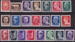 ITALIA REGNO - 1929 IMPERIALE 22 VAL. N. 242A/261 MNH Cat. €115 ,00 - 1900-44 Victor Emmanuel III.