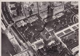 PARIS - AERIAL VIEW, TOUR EIFFEL. PHOTO CIRCA 1928. PHOTOGRAPHIES AERIENNES M. JOLIOT, PILOTE D'AVION - LILHU - Bateaux