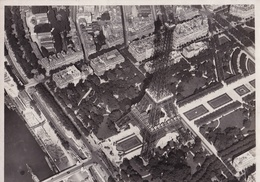 PARIS - AERIAL VIEW, TOUR EIFFEL. PHOTO CIRCA 1928. PHOTOGRAPHIES AERIENNES M. JOLIOT, PILOTE D'AVION - LILHU - Schiffe