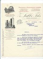 Moteurs & Gazogènes LABBÉ Fils PARIS Xe Courrier Bien - Elettricità & Gas