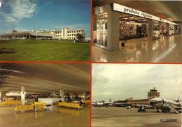 Aéroport De Bordeaux Mérignac 4 VUES  Dont Caravelle Air France Et Nord 262 Air Inter - Aeródromos
