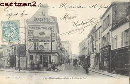 MONTREUIL-SOUS-BOIS LA RUE DU PRE COMMERCES 93 - Montreuil