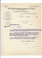 CARTONS PAPIERS Courrier 1930 Vve P. CHOUANARD & Fils PARIS Xe TB - Drukkerij & Papieren