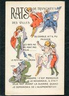 CPA - Illustration - RATS De Tranchées - RATS Des Villes - War 1914-18