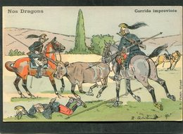 CPA - Illustration - Nos Dragons - Corrida Improvisée - Regiments