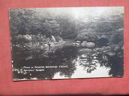 RPPC  Pond In Senator Beverage Estate Beverly Farms   Ref 3766 - Postcards