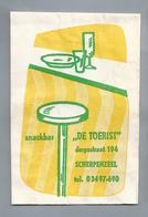 Suikerzakje.- SCHERPENZEEL. Snackbar - DE TOERIST -. Dorpsstraat 194. Sugar Sucre Zucchero Zucker - Suiker
