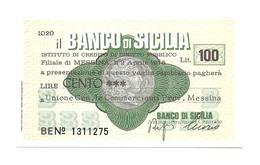 1976 - Italia - Banco Di Sicilia - Unione Generale Commercianti Provincia Messina - [10] Scheck Und Mini-Scheck