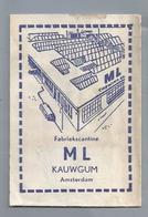 Suikerzakje.- AMSTERDAM. Fabriekscantine ML KAUWGUM. Sugar Sucre Zucchero Zucker - Suiker