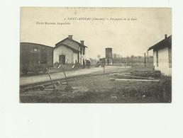 16 - SAINT ANGEAU - Perspective De La Gare Animé Bon état - Autres Communes