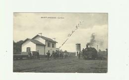 16 - SAINT ANGEAU -  La Gare Animé Train  Bon état - France