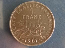 SUPERBE 1 FRANC SEMEUSE NICKEL 1967 - H. 1 Franco