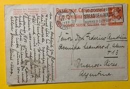 9650- Entier Postal Buste De Tell 25 Ct Orange Basel 2 23.10.1922 Pour Buenos-Aires - Entiers Postaux